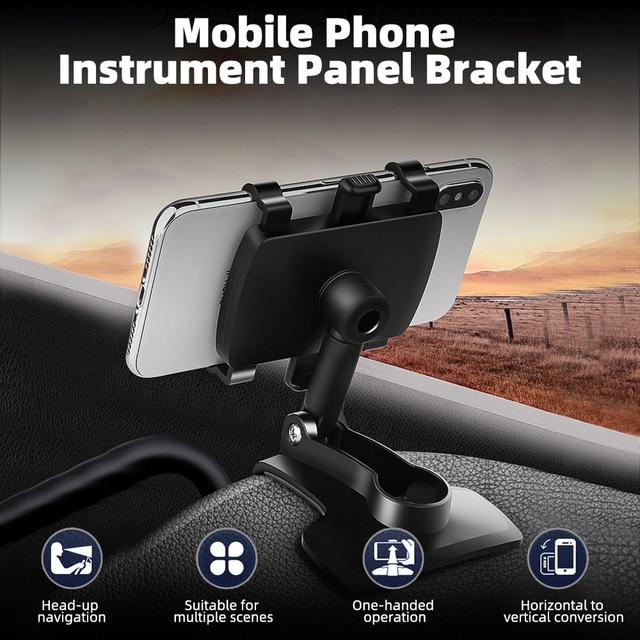 ANMONE Dashboard Car Phone Holder 360 Degree Mobile phone Stands Rearview Mirror Sun Visor In Car GPS Navigation Bracket 4