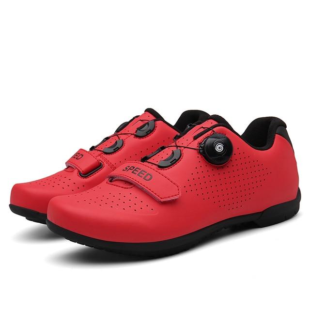 Barato sapatos de ciclismo spd cleat men mtb sapatos ao ar livre respirável auto-bloqueio sapatos de bicicleta de montanha mulher tênis de corrida 3