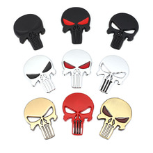 Emblem Badge Decals Skull-Head Car-Stickers The Punisher Focus Vw Styling 3d Metal Chevrolet