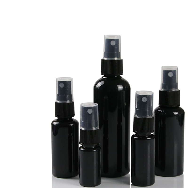 10pcs 5pcs 20pcs  30ml,50ml PET Spray Bottles,All Black Mist Perfume Vials,1 OZ Empty Atomizer Bottle,DIY Mini Sample Container