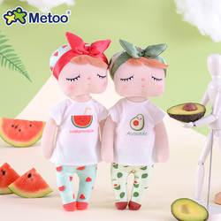 Новые Мягкие Metoo фрукты Анжела куклы набивные игрушки плюшевый Арбуз Свежий милый каваи дети подарок куклы Metoo для девочек