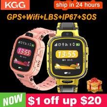 GPS חכם שעון ילדים מצלמה IP67 עמיד למים Wifi גשש טלפון Smartwatch ילדי SOS צג מיצוב שעון 500mAh סוללה