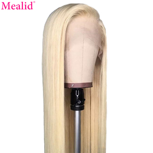 613 Blonde Lace Frontal Human Hair Wigs 150% Remy Brazilian Straight Hair 13x1 4inch Deep Lace Wigs Preplucked With Baby Hair