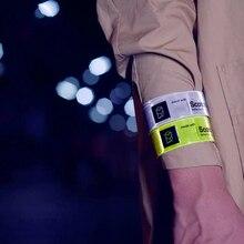 #12h無料 #38センチメートル夜反射リストバンド1秒クイック着て自動柔軟な蛍光灯ストラップ
