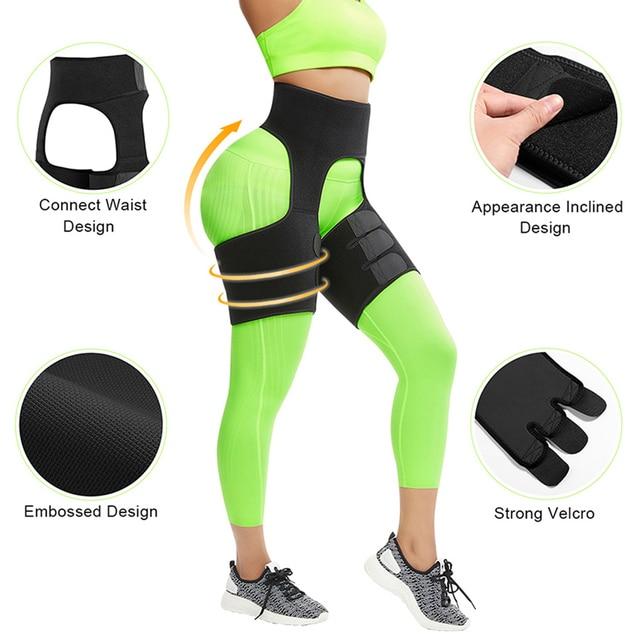 FeelinGirl Neoprene Thigh Shaper Sweat Thigh Trimmers Leg Shaper Lose Weight Slimming Belt Butt Lifter Compress Belt 3