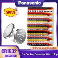 50 pces panasonic cr1632 cr 1632 3v li-ion bateria de lítio dl1632 br1632 ecr1632 gpcr para o brinquedo calculadora relógio botão pilha moeda