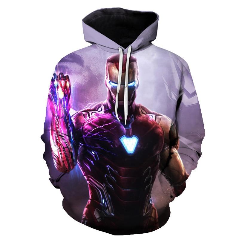 Brand Hoodies Sweater Boy/girl Long Sleeves Casual Parent-child Sweatshirt Hoodies Marvel 3D Hoodie Tracksuits Male Thin Coat