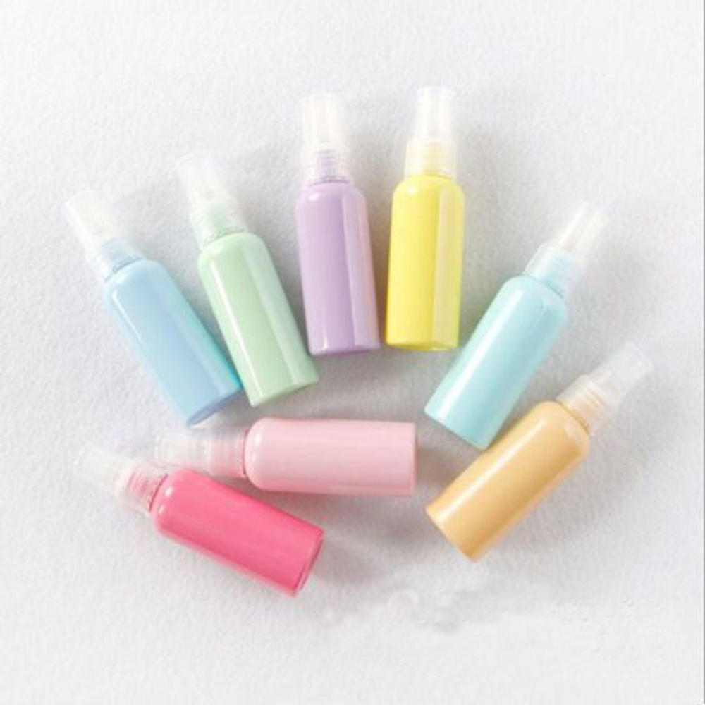 Macaron 50ml Color Travel Spray Bottle Thickened Cosmetics Plastic Packaging Spray Bottle Filling Bottles Cosmetic Packaging Con