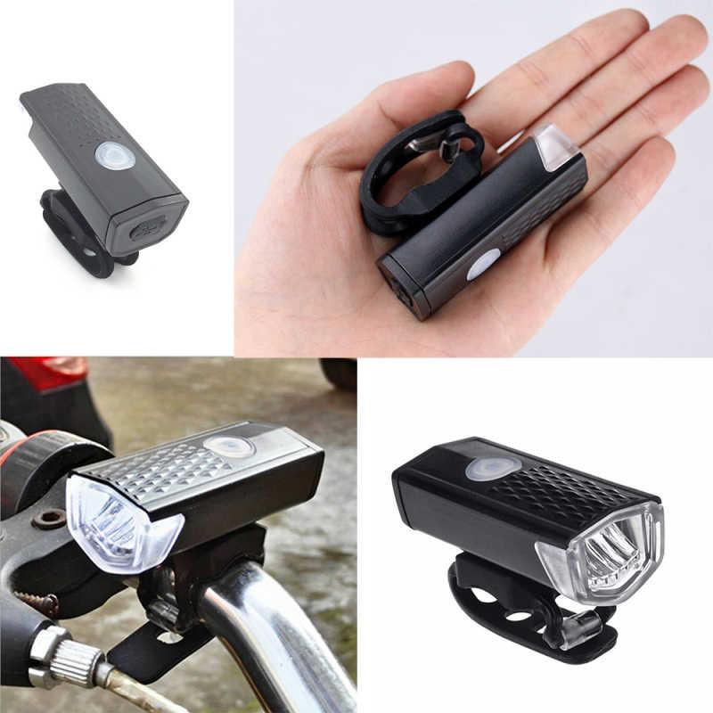 Światło rowerowe USB akumulator 3 tryby 300 lumenów lampa rowerowa światło przedni reflektor rower LED latarka latarnia