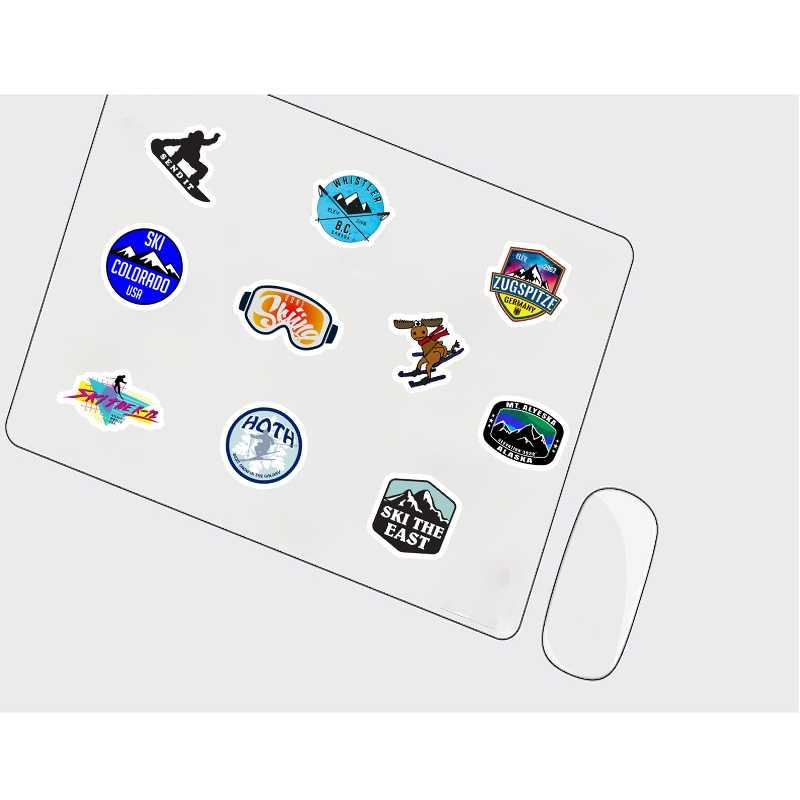 50 Pcs/set Musim Dingin Ski Gunung Salju Penguin Grafiti Stiker untuk Bagasi Laptop Skateboard Kulkas Ski Stiker Mobil