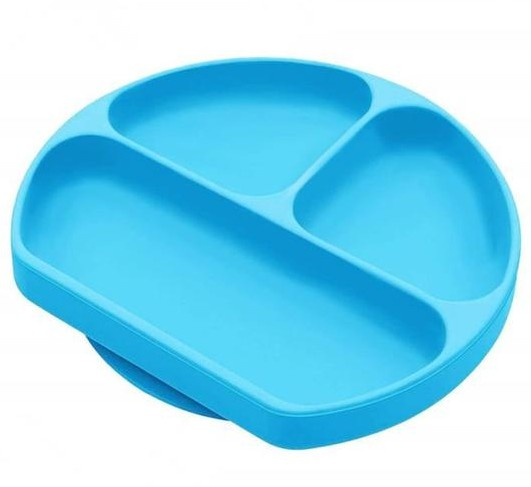 Baby Tableware Suction Cup Silicone Dining Plate Silicone Plate With Dividers For Baby Children Feeding Dinner Plates