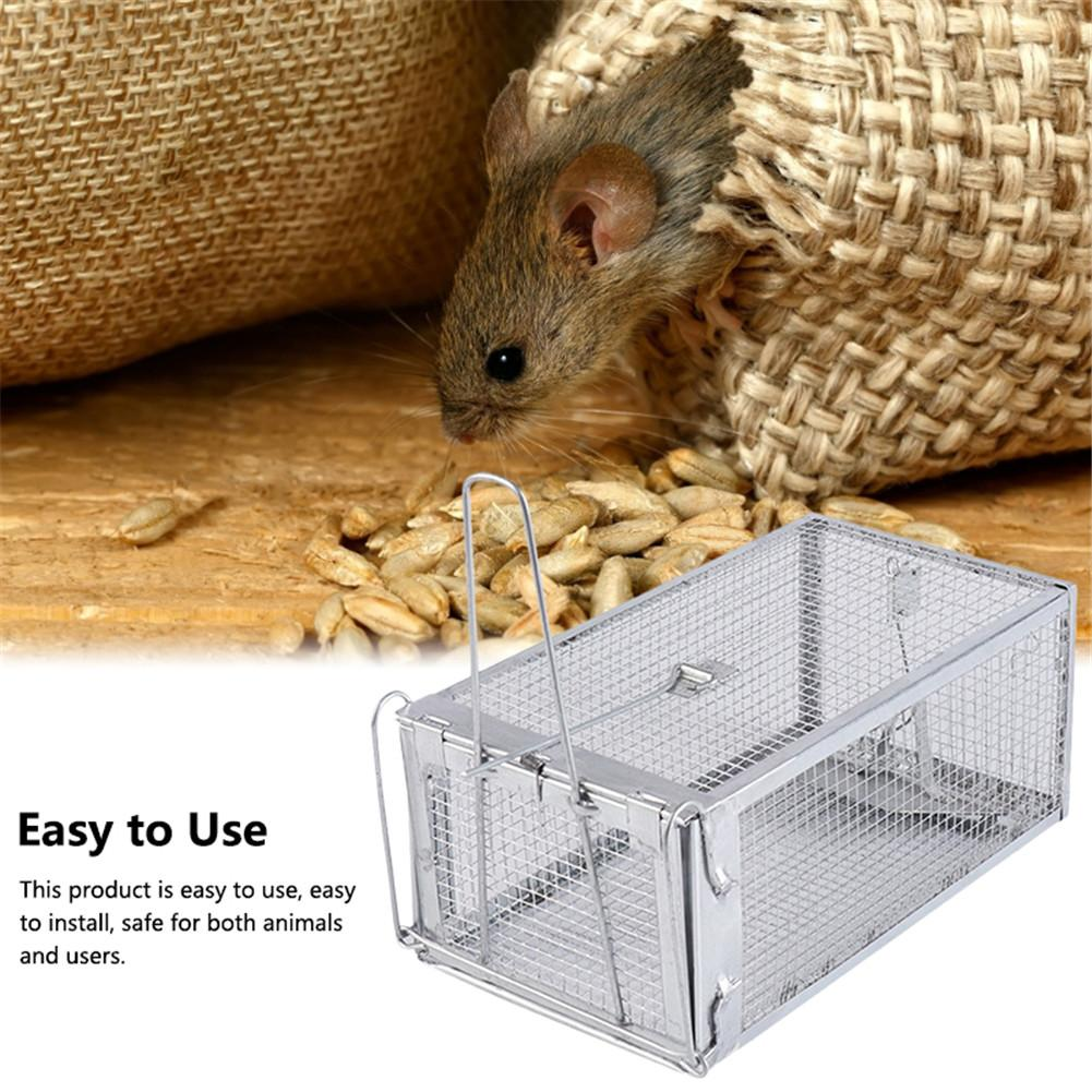 Reusable Rat Trap Heavy Duty Mouse Pest Animal Mice Hamster Cage Control Bait Rodent Repeller Catch MouseHamster Mouse Trap