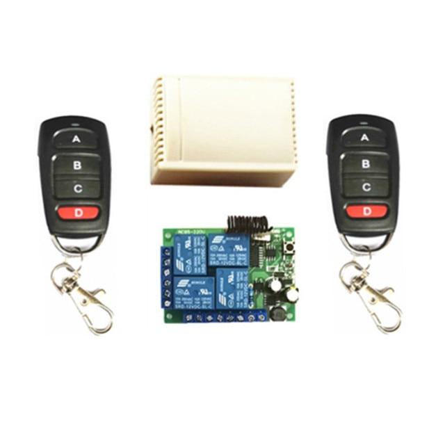 433MHZ.EV1527 التحكم عن بعد التعلم. AC85V 250V 220V مفتاح استقبال 4 قنوات. تستخدم أبواب جراج. الكهربائية ضوء
