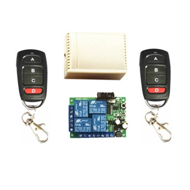 433MHZ.EV1527 di apprendimento a distanza di controllo. AC85V 250V 220V 4 canali ricevitore interruttore. Utilizzato per porte da garage. Luce elettrica