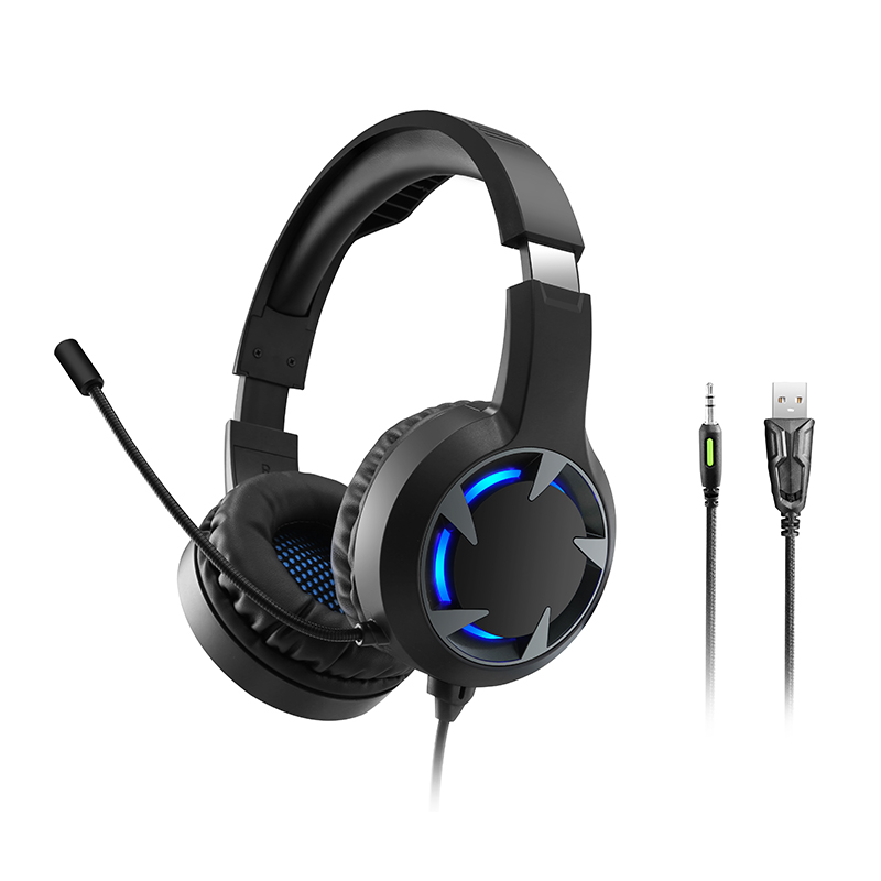 New Led Illuminated Gaming Headset Virtual Surround Sound Usb Headset Gaming Headset With Microphone For Pc Pubg Phone Earphones Headphones Aliexpress