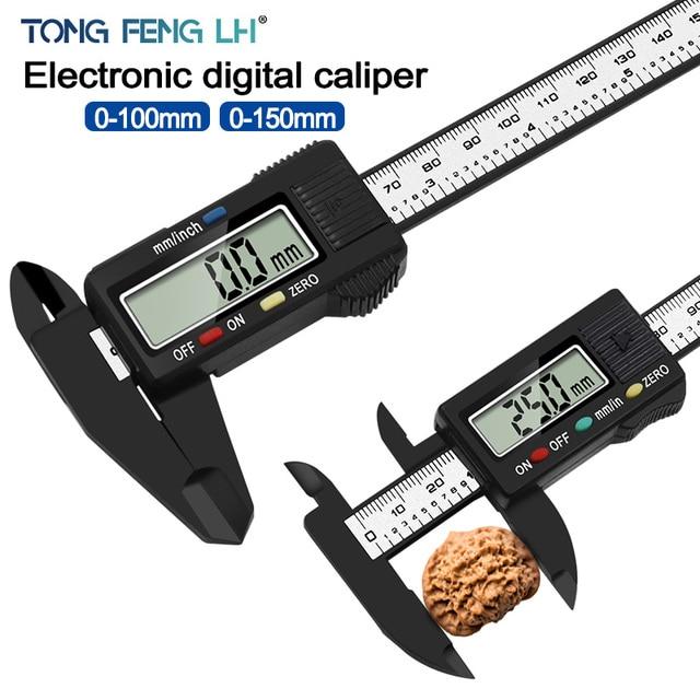 Digital Vernier Caliper 0 150mm 6 inch LCD Electronic Carbon Fiber Altimeter Micrometer Measuring Tool|Calipers|   -