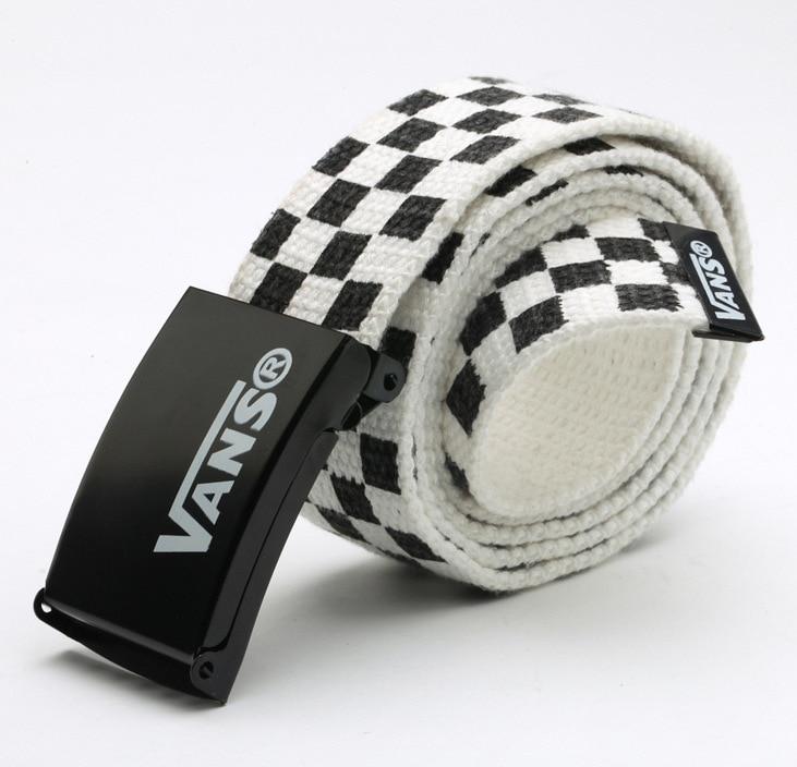 Men Women Unisex Plain Webbing Cotton Canvas Metal Buckle   Belt   High Quality   Belts   Male Luxury Casual Straps Ceintures FB46