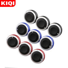 KIQI Car AC Knob Aluminum Alloy Air Conditioning Heat Control Switch Accessories Suitable for Ford Focus 2 3 MK2 MK3 Mondeo(China)