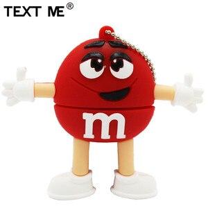 Image 3 - Usb флеш накопитель TEXT ME, 64 ГБ, красный, розовый, зеленый, синий, мультяшный M bean, usb 2,0, 4 ГБ, 8 ГБ, 16 ГБ, 32 ГБ, стандартный usb