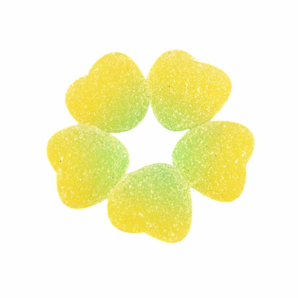 10 Buah/Banyak Palsu Candy Resin Cabochon Flatback Jantung Bentuk Simulasi Makanan Diy Scrapbooking Hiasan Dekorasi Kerajinan