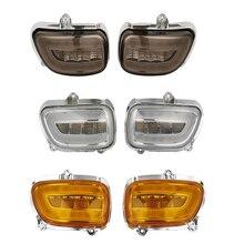 Motorbike LED Front General Turn Signal Indicator Headlight lights Motorcycle Headlight for Honda Goldwing GL1800 F6B 2001