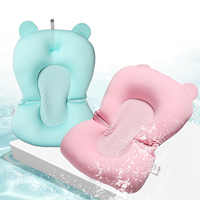 Floating Anti-Slip Baby Bath Mat Toddler Shower Cushion Bathtub Sponge Pad Safety Security Bath Seat Support for 0-6 Month Baby