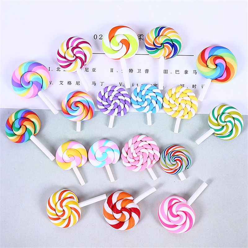 Simulation Creamy Soft Pottery Lollipop Diy Charms Clay Lizun Slime Tools Learning Toys For Children Polymer Clay Molds