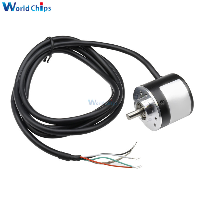 Diymore 360 P / R Pulses Incremental Optical Rotary Encoder AB Two-phase 5-24V 360 Optical Rotary Encoder Coupling NPN Output