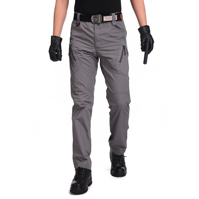 Men's Tactical Pants Multi Pocket Elastic Military Trousers Male Casual Autumn Spring Cargo Pants For Men Slim Fit 5XL 6