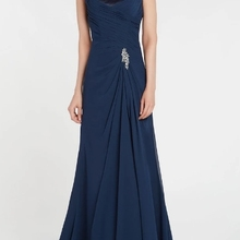 Blue Long Chiffon Mother of the bride dresses