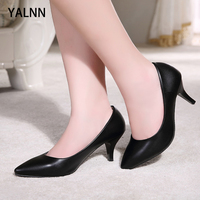 Yalnn Retro Spike Heels for Girls Womens Shoes Heels High Bridal Heels Pumps Woman Sexy Lady Pointed Toe Slip On Shoes Pumps