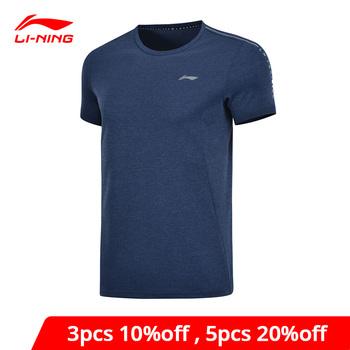 Męskie koszulki treningowe li-ning 100 poliester oddychający regularny krój LiNing Li Ning koszulki sportowe AHSP041 MTS3091 tanie i dobre opinie Pasuje prawda na wymiar weź swój normalny rozmiar Oddychające