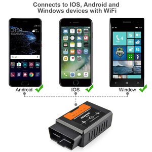 Image 4 - Elm327 V1.5 WIFI OBD2 PIC18F25K80 שבב קוד קורא ELM 327 OBDII V1.5 אבחון כלי דיזל/בנזין על אנדרואיד/ IOS רכב סורק