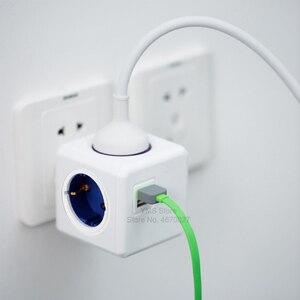 Image 5 - Allocacoc prise ue Powercube prise électrique USB prise ue multiprise multiprise adaptateur adaptateur de voyage usage domestique intelligent