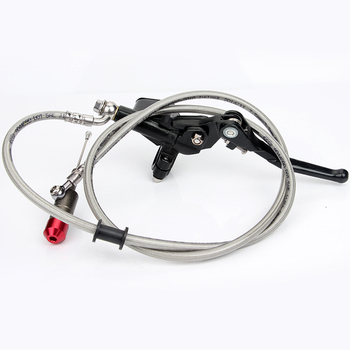 цена на Black 7/8inch 1.2M Hydraulic Brake Clutch Lever Master Cylinder For ATV Pit Dirt Bike