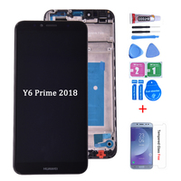 Original For Huawei Y6 2018 LCD Display Touch Screen Digitizer Assembly frame Y6 Prime 2018 ATU LX1 ATU L21 ATU LX3 lcd screen|Mobile Phone LCD Screens| |  -