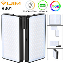 VIJIM R316 Foldable RGB Video Light Lighting for Photography 2600K-12000K 3200mAh RGB LED Video Camera Light Vlog Fill Light
