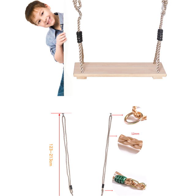 Wooden Chair Garden Swings with Rope 4