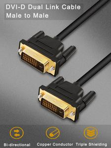Dvi-Cable Projector Dual-Link-Adapter TV XBOX Male-To-Male High-Speed for LCD DVD HD
