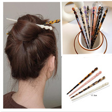 12 colors Hair Sticks Acetate Headbands For Women Elegance Lady Hairpins Fashion Hair Clip Hair Accessories Headwear
