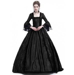 JIEZUOFANG средневековое готическое платье 18-го века, кружевное платье Ренессанса, маскарадный костюм, платье gotico