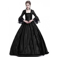 JIEZUOFANG 18th Century Medieval Gothic dress Renaissance LACE Dress Masquerade Costume vestido gotico