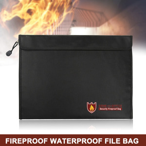 Image 5 - Fireproof Document Bag Waterproof Fire Resistant Pouch for Files Money Documents SP99