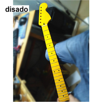 disado 22 Frets big headstock maple Electric Guitar Neck maple fretboard inlay dots glossy paint guitar accessories parts