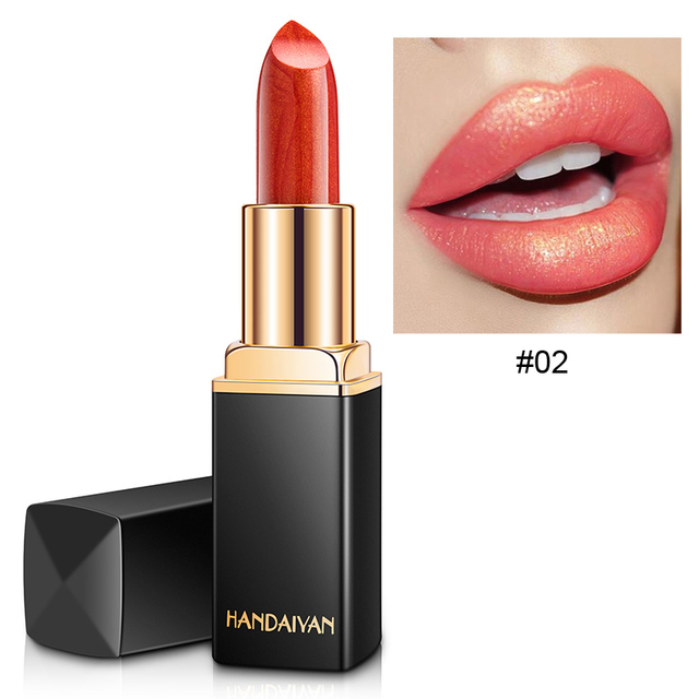 9 Colors Luxury Lipstick Lips Makeup Waterproof Shimmer Long Lasting Pigment Nude Pink Mermaid Shimmer Lipsticks Makeup 4