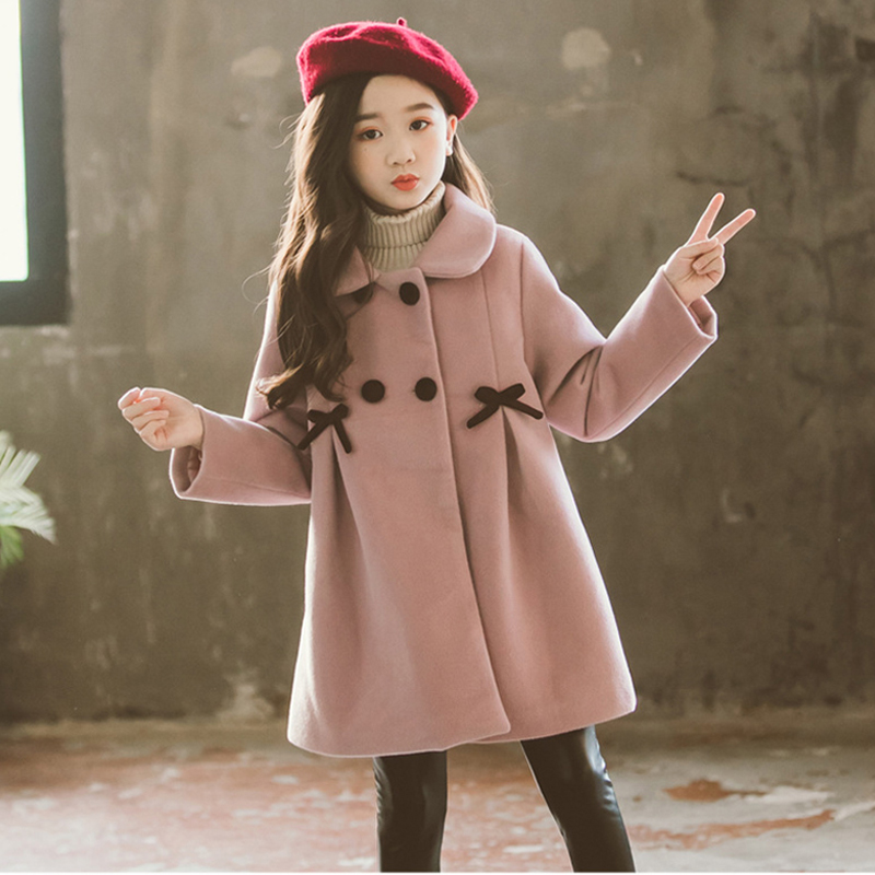 2020 <font><b>Children</b></font> Jacket <font><b>for</b></font> Girls <font><b>Winter</b></font> Wool Warm Overcoat Girls <font><b>Clothes</b></font> Kids Long Outerwear Girls Coat Teens 4 6 <font><b>8</b></font> 10 12 13 <font><b>Years</b></font> image