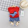 Summer 2021 New Kids Clothes Dinosaur Children's Short-Sleeved Set T-Shirt Shorts Boys and Girls 2 Piece Suits Infant Children