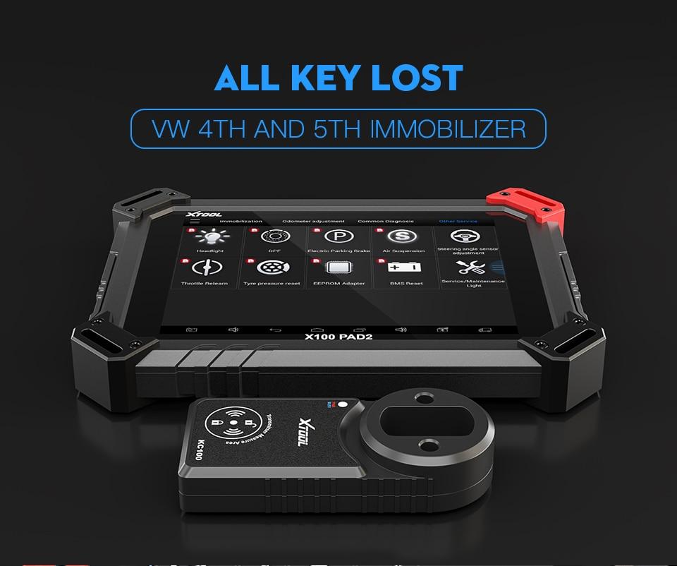 coche odómetro OBD2 XTOOL 3