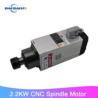 CNC 2.2kW 220v/380v Square Air Cooled Spindle for Woodworking and Advertising Engraving ER25 High quality.