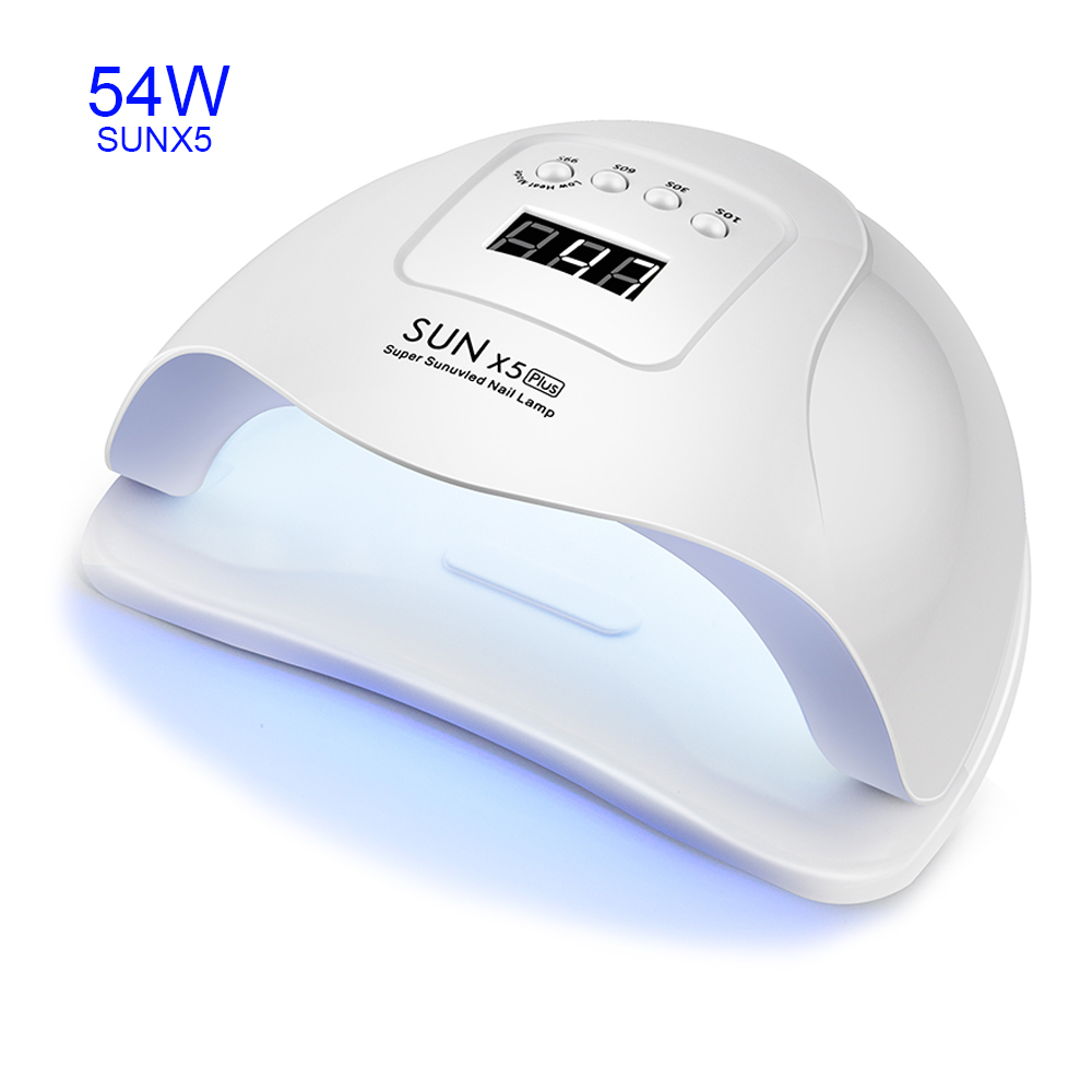 SUNX 5 Dual UV LED Nail Lamp 54/36W 36 PCS LEDs Nail Dryer SUN Light For Curing UV Gel Nail Polish With Sensor LCD Display